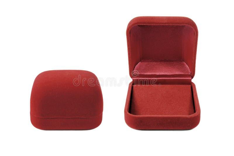 Velours rouge de rouge d'argent de cadre de velours images libres de droits
