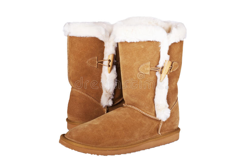 Veloursleder boots royalty free stock photo