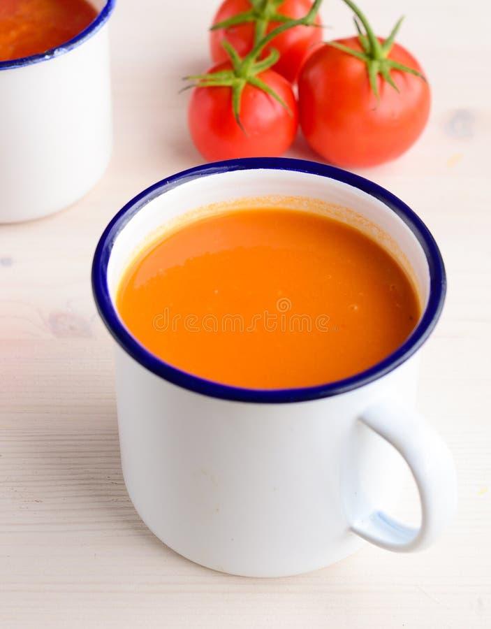 Velouté de tomates photo libre de droits