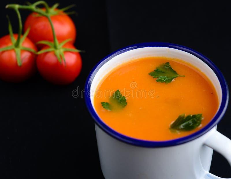 Velouté de tomates photos stock