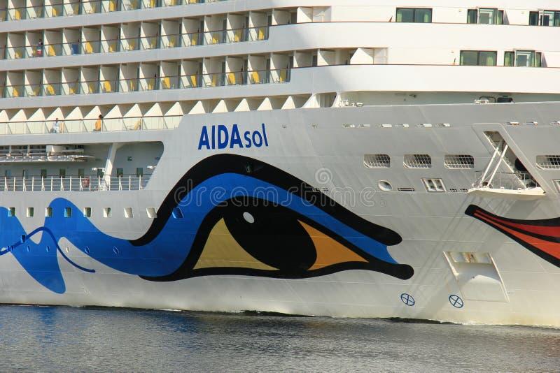 Velsen, los Países Bajos - 19 de abril de 2017: Detalle de Aida Sol del arco foto de archivo libre de regalías