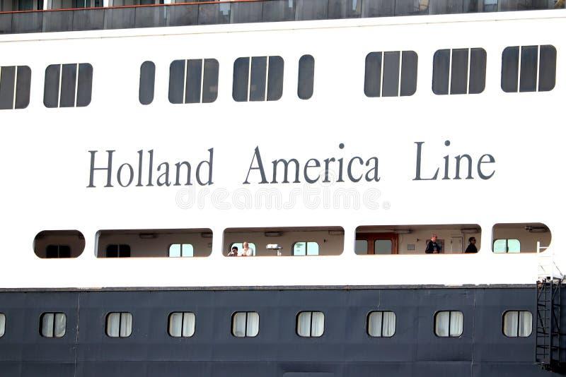 Velsen Nederländerna - Augusti 4th 2019: Ms Rotterdam royaltyfri foto