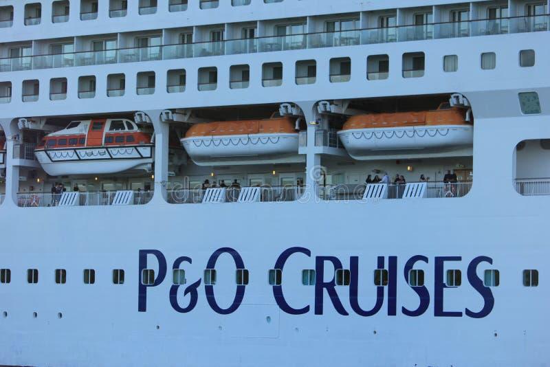 Velsen, Nederland - Mei, 31ste 2017: Dageraadp&o Cruises royalty-vrije stock afbeeldingen
