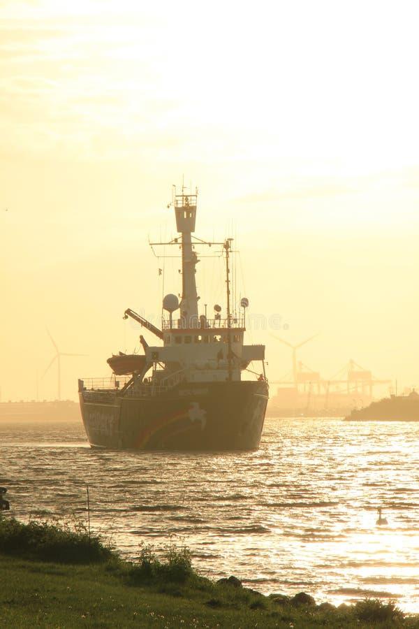 Velsen, The Netherlands - May 9, 2015: Arctic Sunrise royalty free stock photography
