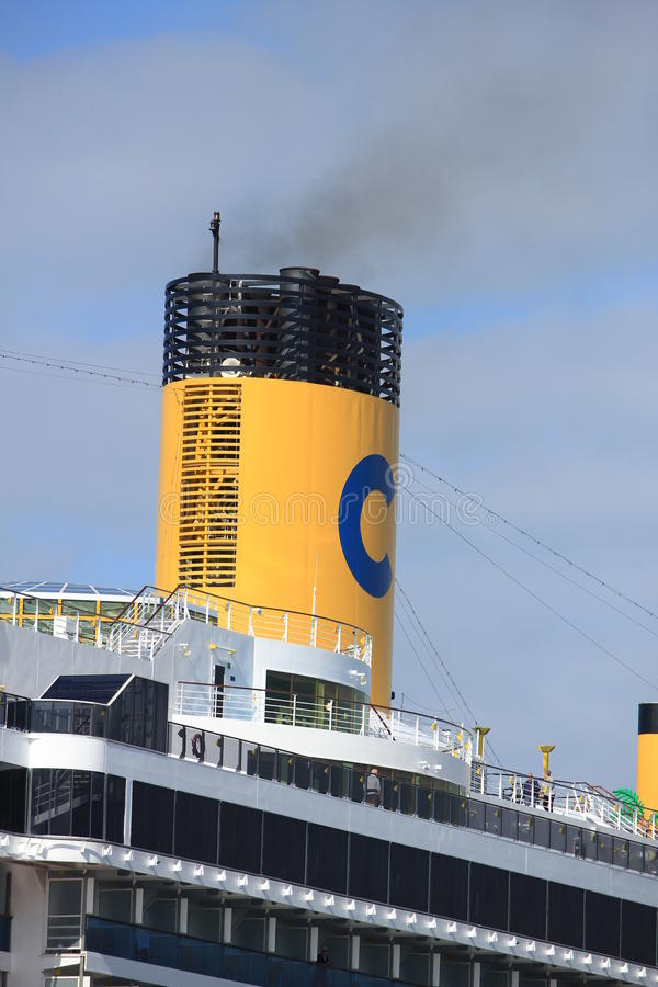 Free Velsen, The Netherlands - May, 30th 2017: Costa Mediterranea, Funnel Royalty Free Stock Photo - 93789095