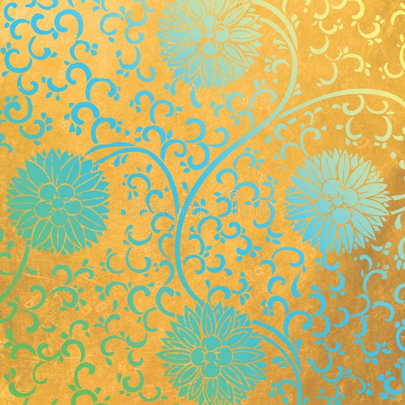 Veludo de cobre ilustração do vetor
