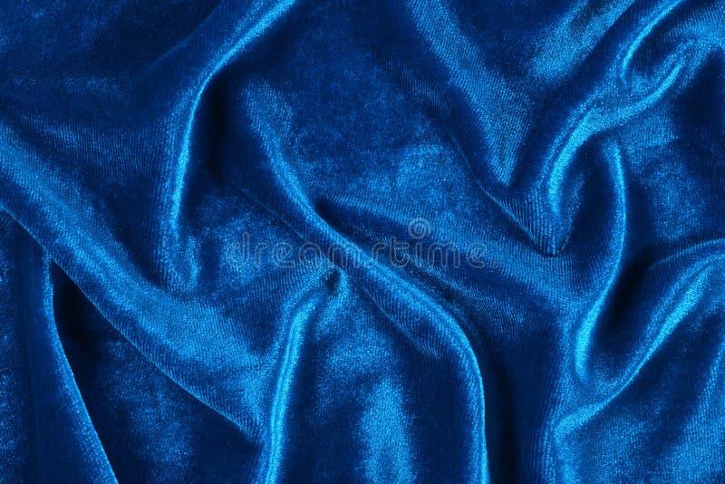 Veludo enrugado azul fotos de stock royalty free