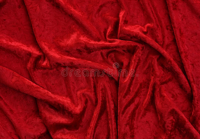 Veludo: Veludo vermelho esmagado amarrotado fotografia de stock royalty free