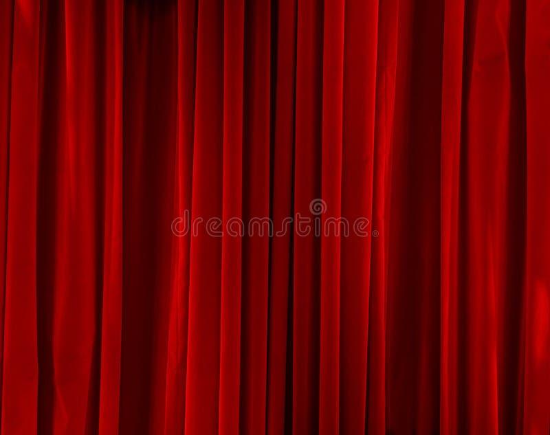 Veludo vermelho fechado fotografia de stock royalty free