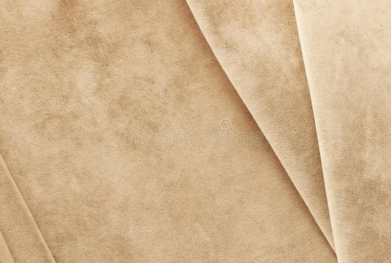 Velvet background, texture, pastel pale brown color, expensive luxury, fabric, royalty free stock photo