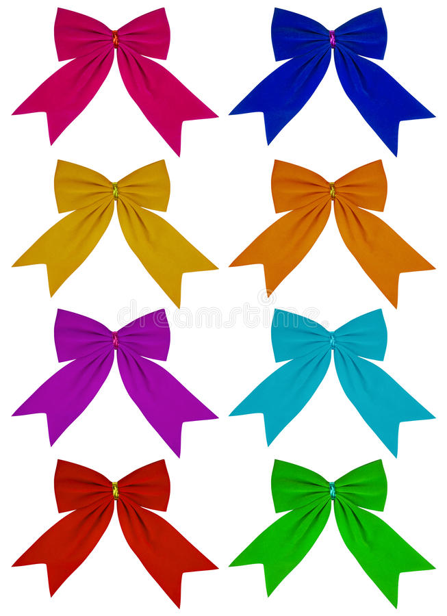 Velvet bow - colorful royalty free stock images
