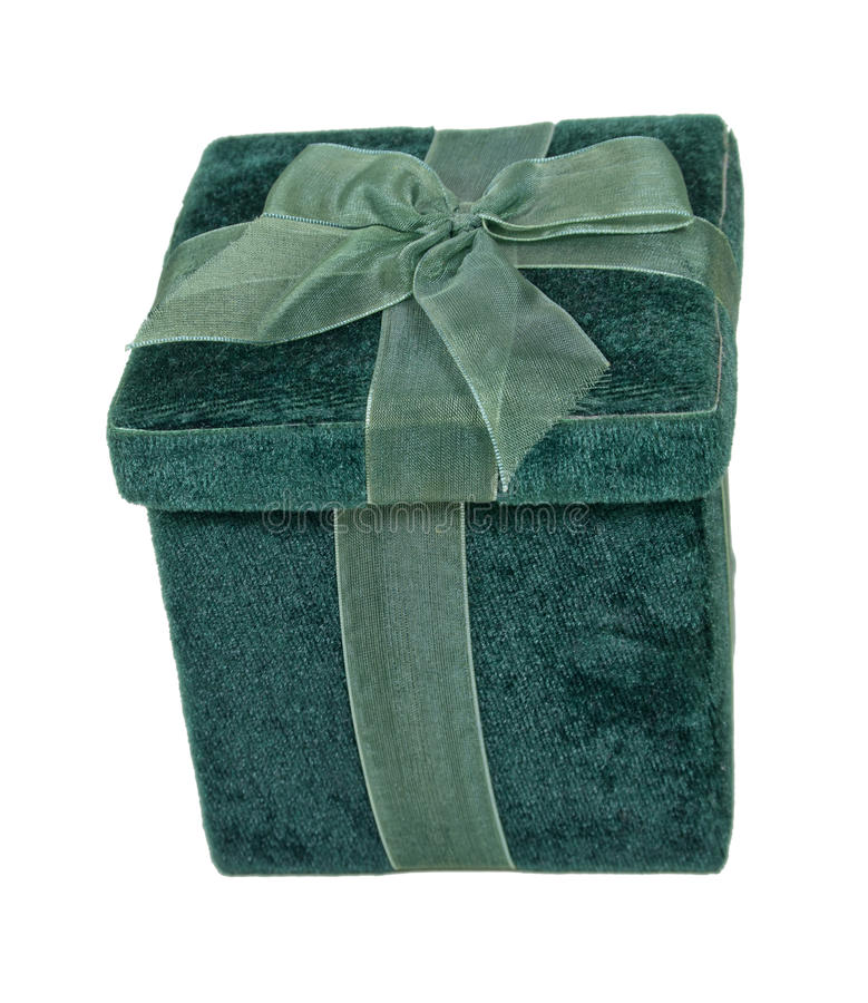 Velvet Box With A Bow Stock Image