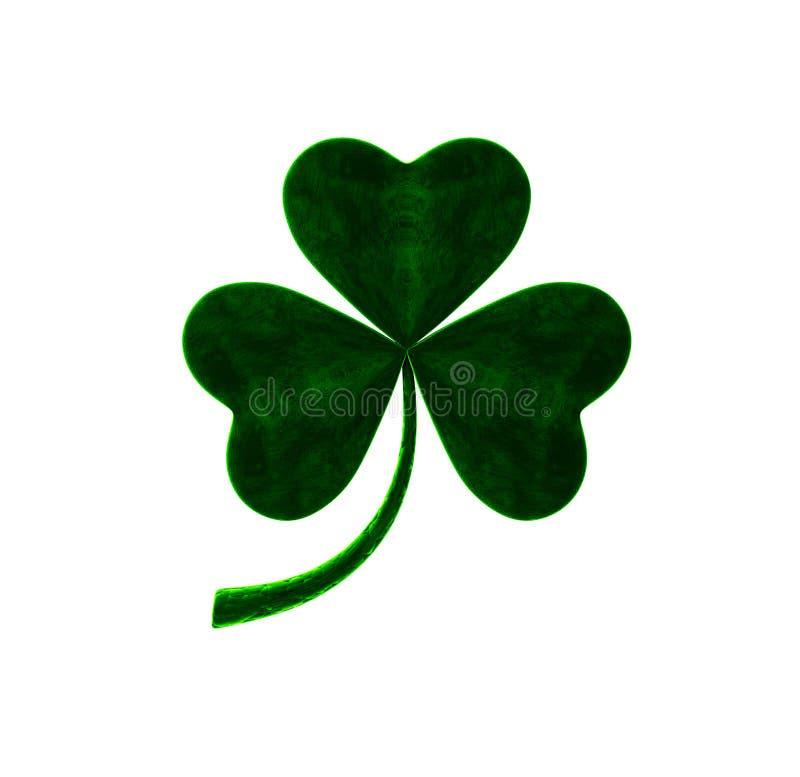 Velvet clover leaf. St.Patrick`s day. 3D illustration. Velvet clover leaf. St.Patrick`s day Isolated on white background. 3D illustration vector illustration
