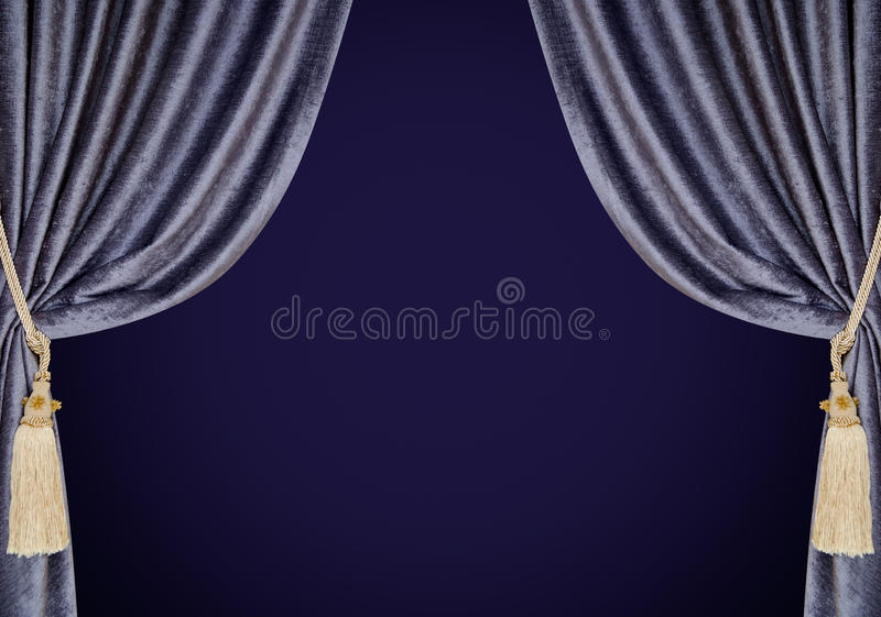Download Velvet Curtains Background Stock Photo Image Of Isolated
