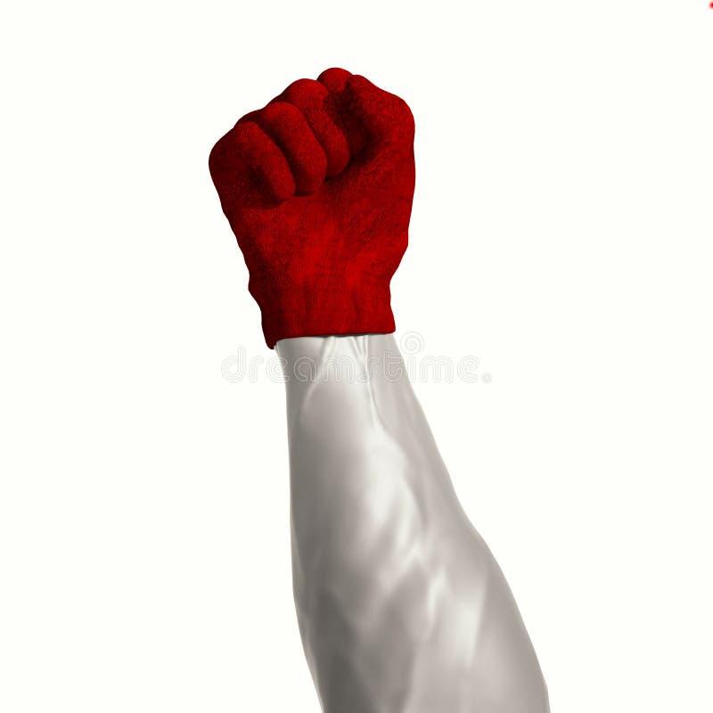 Velvet glove. Iron fist in a velvet glove royalty free illustration
