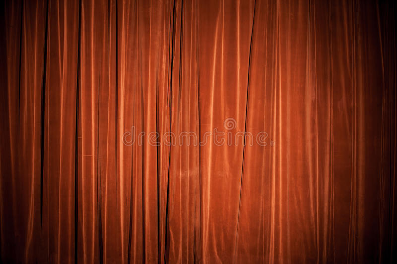 Velvet red-brown curtain background texture. Vintage natural velvet red-brown curtain background texture royalty free stock photos