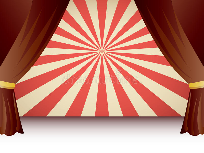 Download Velvet Stage Curtain stock vector. Image of comedy, shows - 24332175