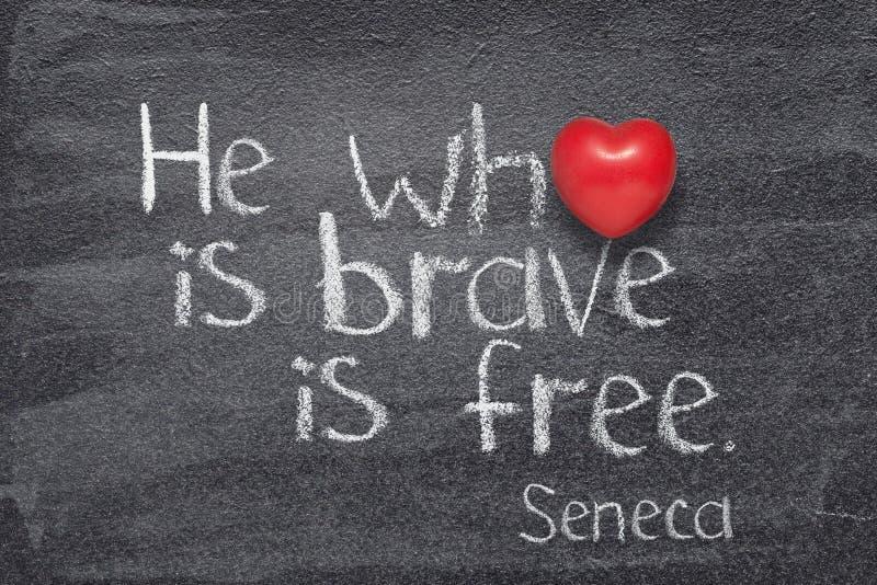 Vem är modig Seneca arkivfoto