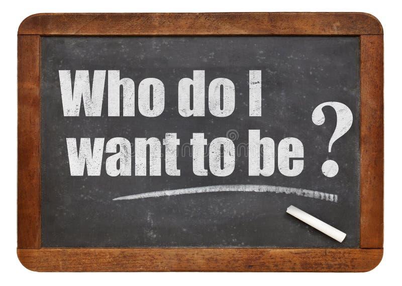 Vem önskar jag att ska vara? arkivfoto