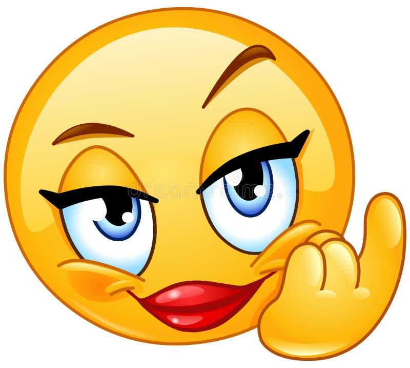 Vem o emoticon fêmea ilustração royalty free