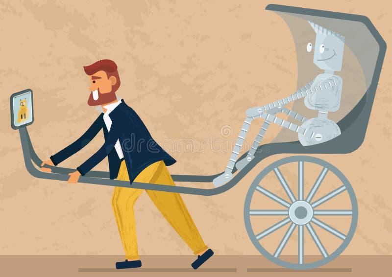 Vem ska tjäna som för vem: konstgjord intelect för mänskligt eller mänskligt för ai Hur teknologi ska påverka i vårt levande Etth arkivbild