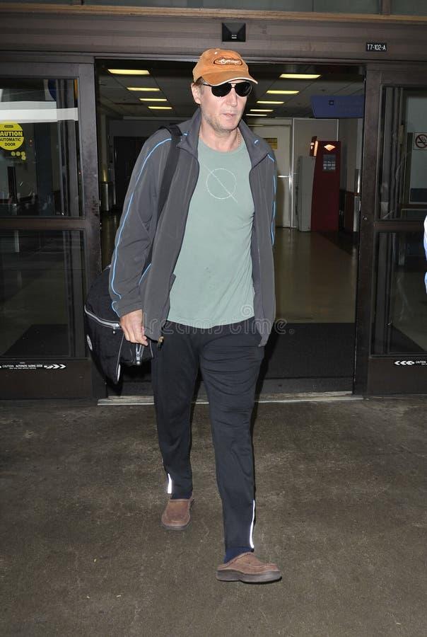 Ven al agente Liam Neeson en LAX foto de archivo libre de regalías