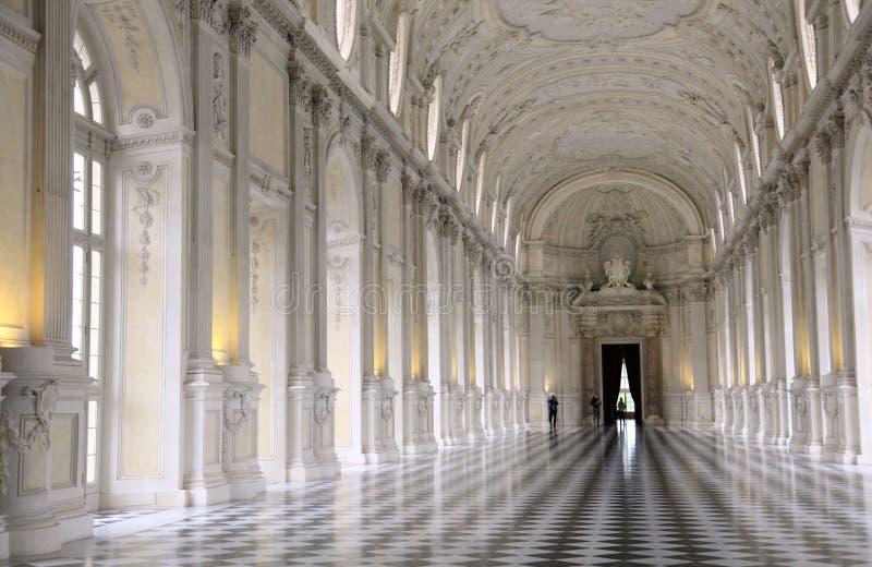 Venaria宫殿盛大大厅  免版税库存照片