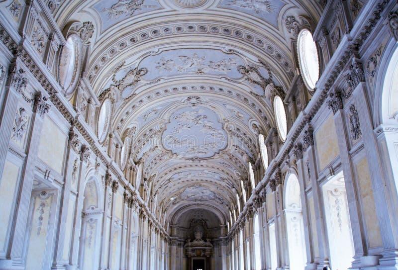 Venaria宫殿,皇家住所在都灵,山麓 免版税库存图片