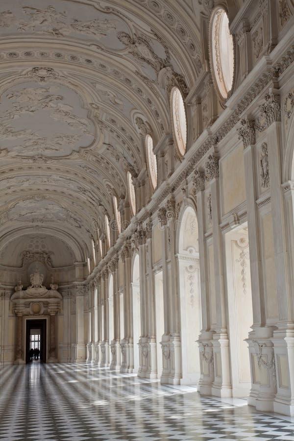 venaria дворца Италии galleria di diana королевское стоковая фотография rf
