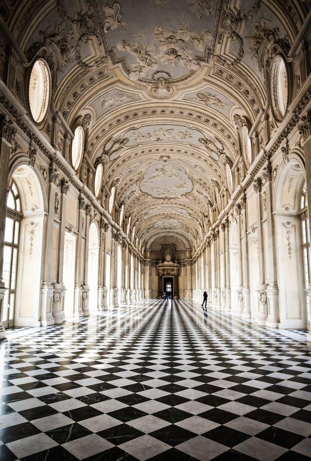 venaria för kunglig person för di diana galleriaitaly slott royaltyfri foto
