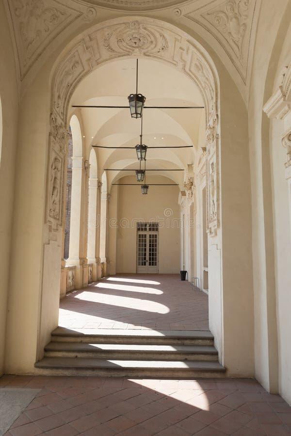 VENARIA, ITALIA 27 DE JULIO DE 2016: Reggia de Venaria Reale, ro anterior imagenes de archivo