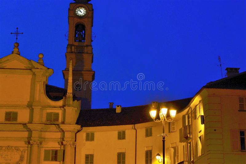 Venaria Reale, Piedmont, Italien Juli 2019 Piazzadella Annunziata royaltyfria foton