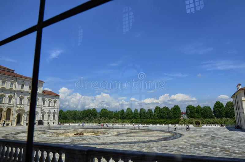 Venaria reale, Piedmont region, Italy. June 2017. The fountain of the Cervo stock photography