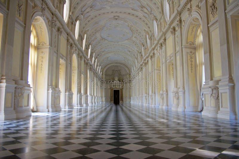 Venaria Reale - residência real - salão de baile fotografia de stock royalty free
