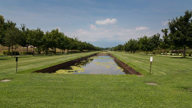 Venaria Reale trädgårdar, Turin arkivbilder