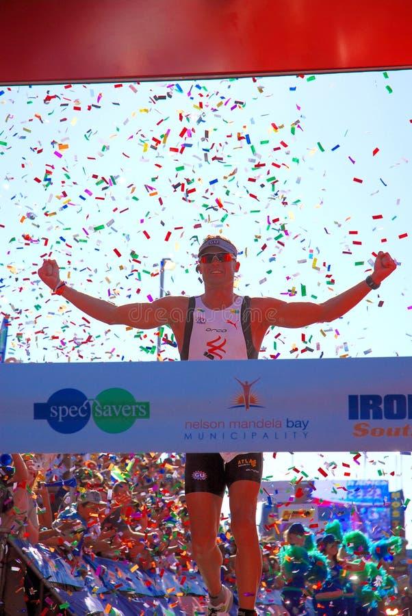 Vencedor África do Sul 2010 de Ironman imagem de stock royalty free