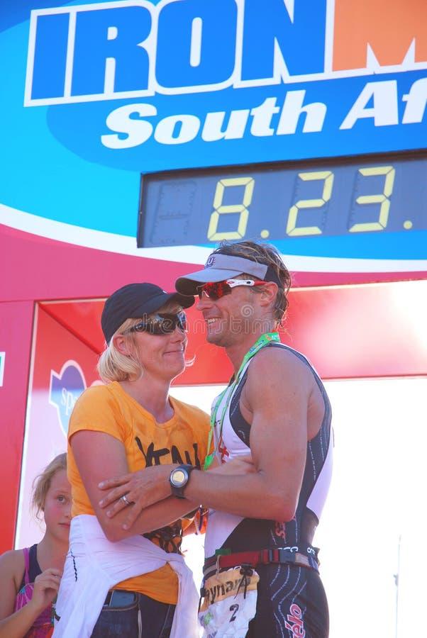 Vencedor 2010 Ironman SA imagem de stock royalty free