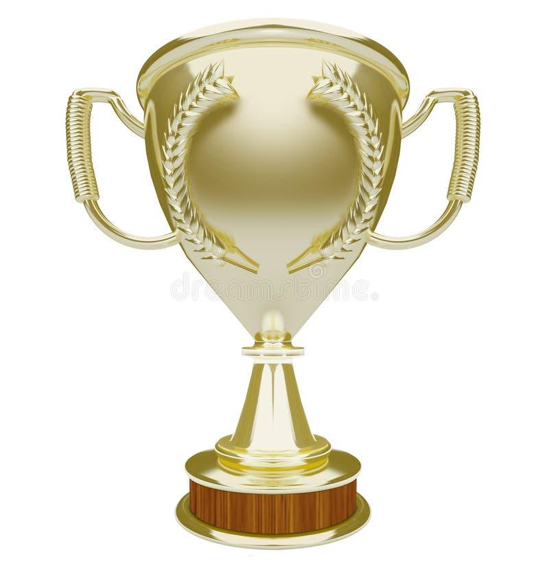 Vencedor da concessão do prêmio superior do espaço da cópia da placa do troféu do ouro ilustração do vetor