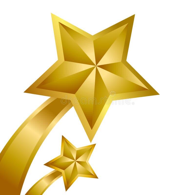 Vencedor da estrela do ouro ilustração do vetor