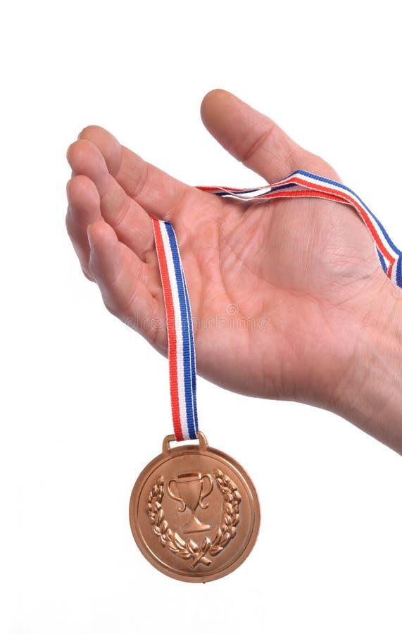 Vencedor de medalha imagem de stock