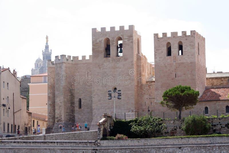 Vencedor del santo de la iglesia en Marsella imagen de archivo