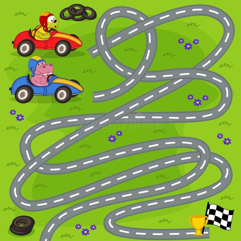 Vencedor do achado da raça do motor ilustração stock
