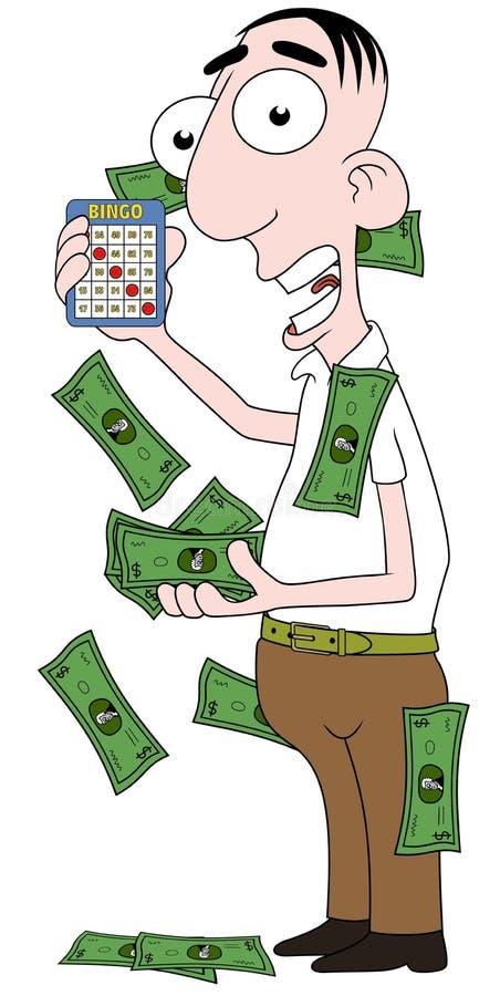 Vencedor do Bingo ilustração royalty free