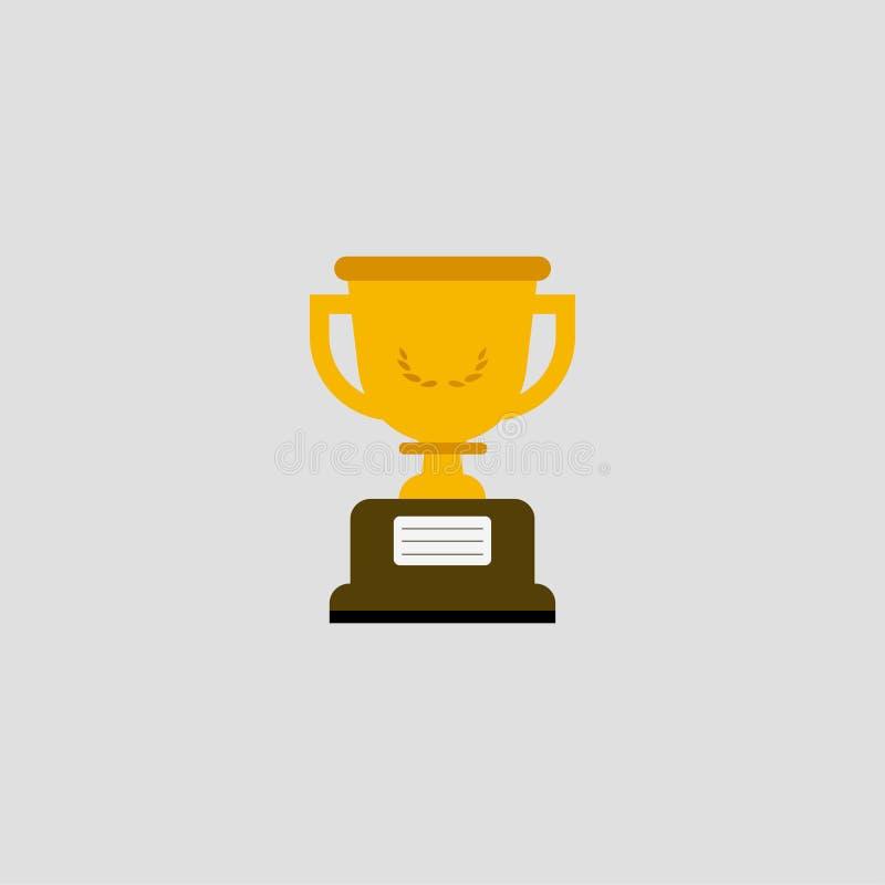 Vencedor do copo Copo dourado Copo do ícone Ilustração do vetor Eps 10 ilustração stock