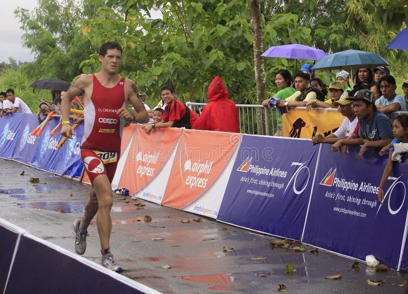 Vencedor Erich Felbabel de Ironman Filipinas fotos de stock