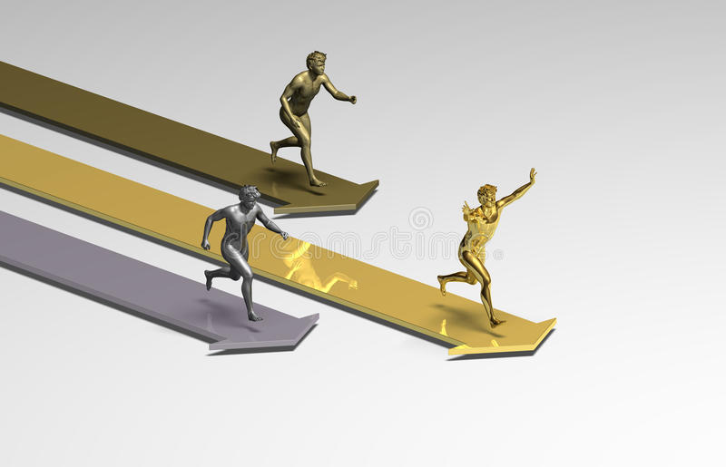 Vencedor running ilustração do vetor