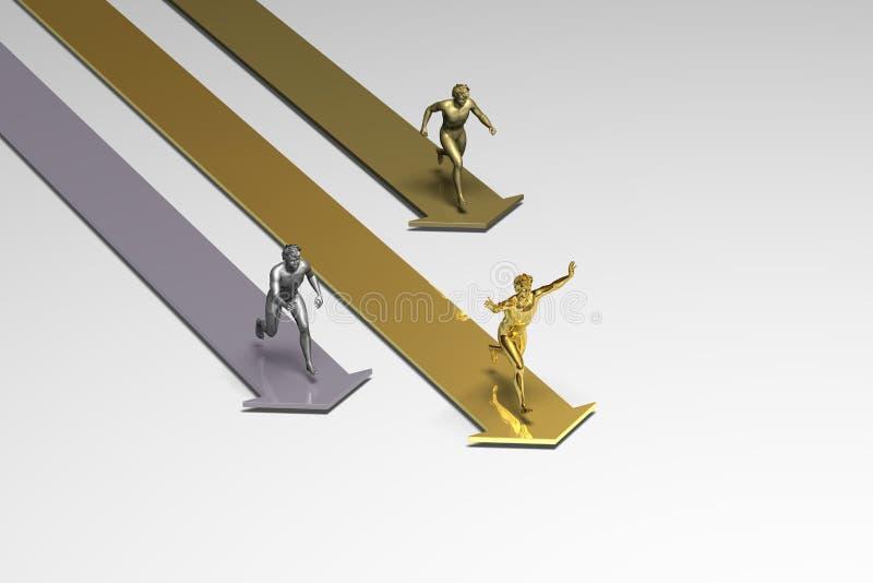 Vencedor running ilustração royalty free