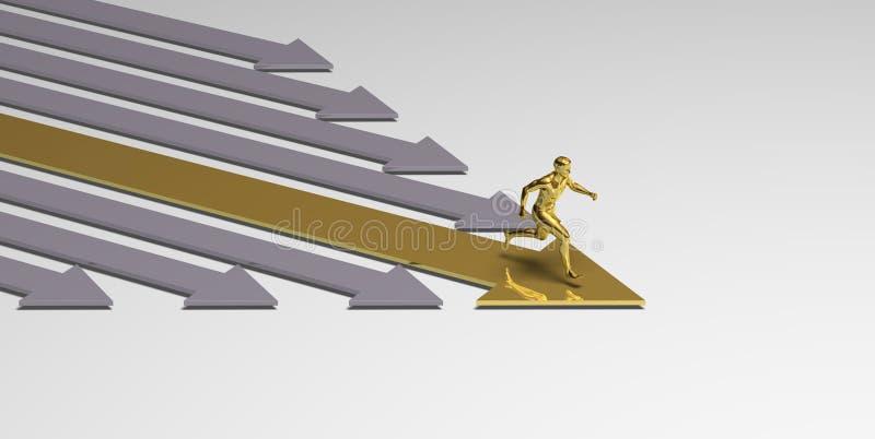 Vencedor running ilustração stock
