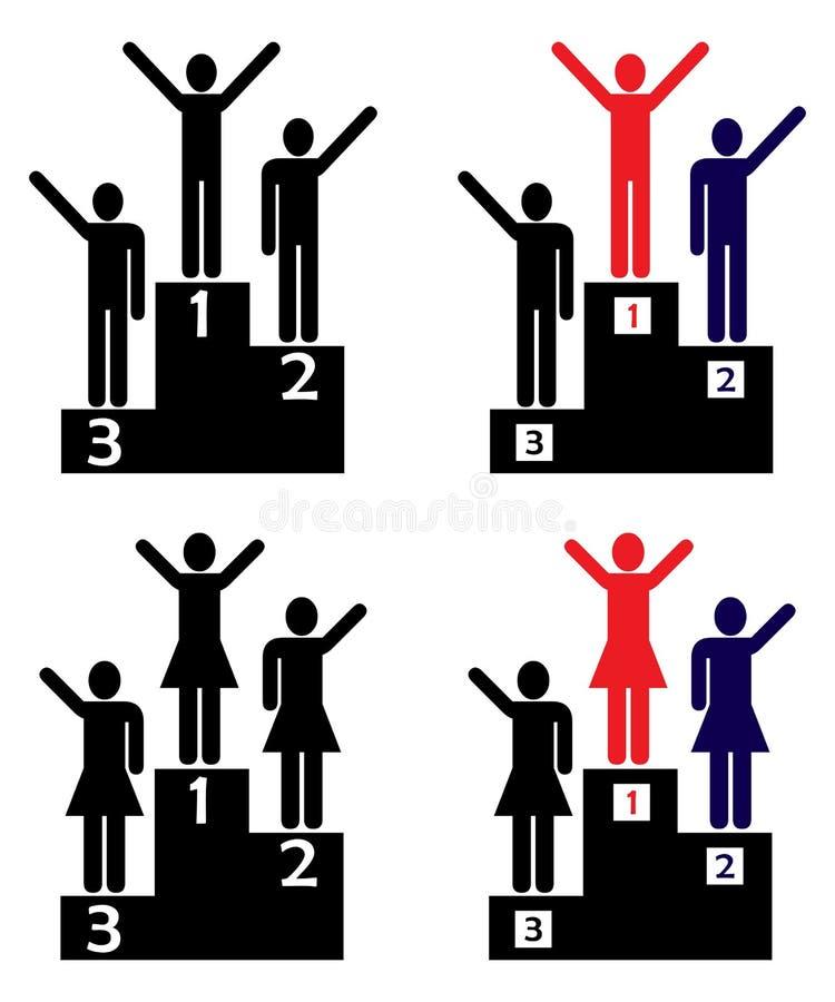 Vencedores ilustração royalty free