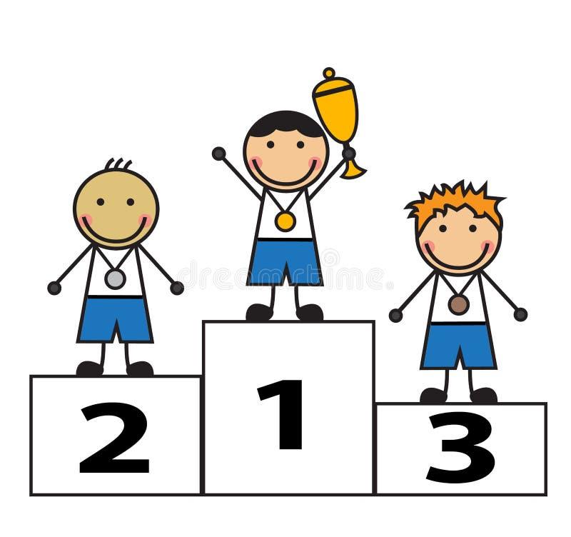 Vencedores da concessão ilustração do vetor